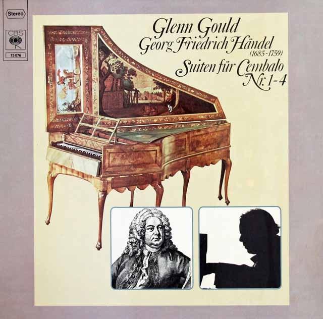 グールドのヘンデル/チェンバロ組曲第1-4番 独CBS 3015 LP レコード