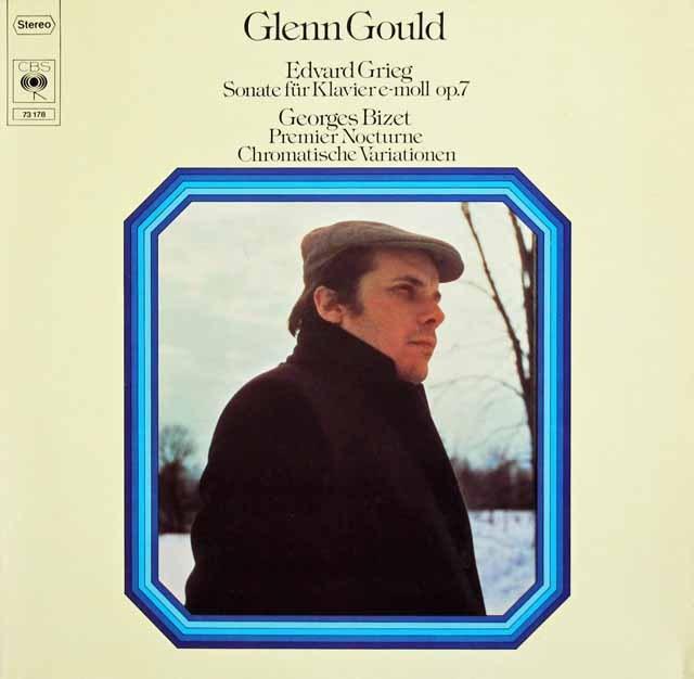 グールドのグリーグ&ビゼー/ピアノ作品集 独CBS 3015 LP レコード