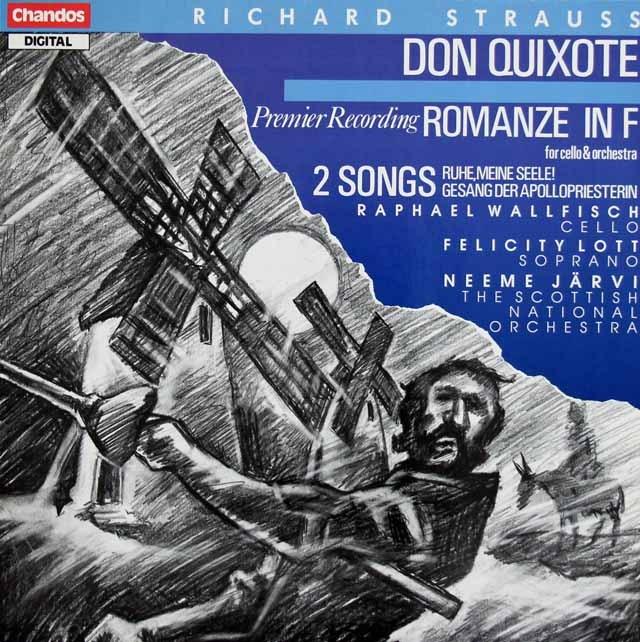 ヤルヴィのR.シュトラウス/交響詩「ドン・キホーテ」ほか 英Chandos 3391 LP レコード