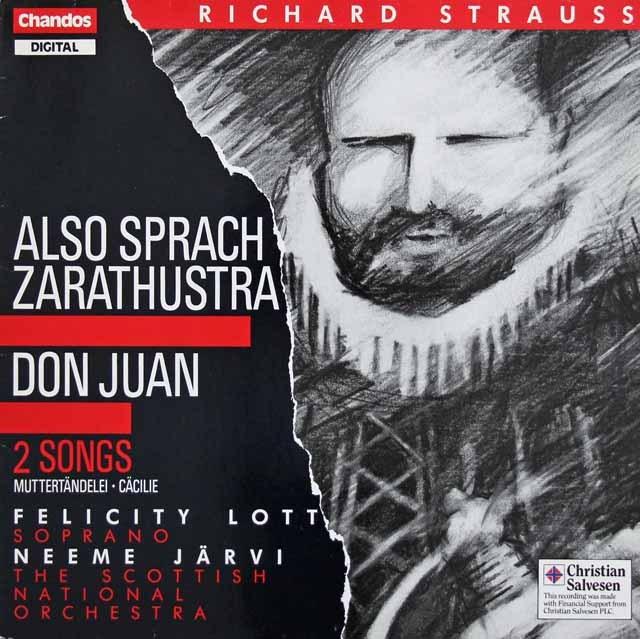 ヤルヴィのR.シュトラウス/「ツァラトゥストラはかく語りき」、「ドン・ファン」ほか 英Chandos 3391 LP レコード