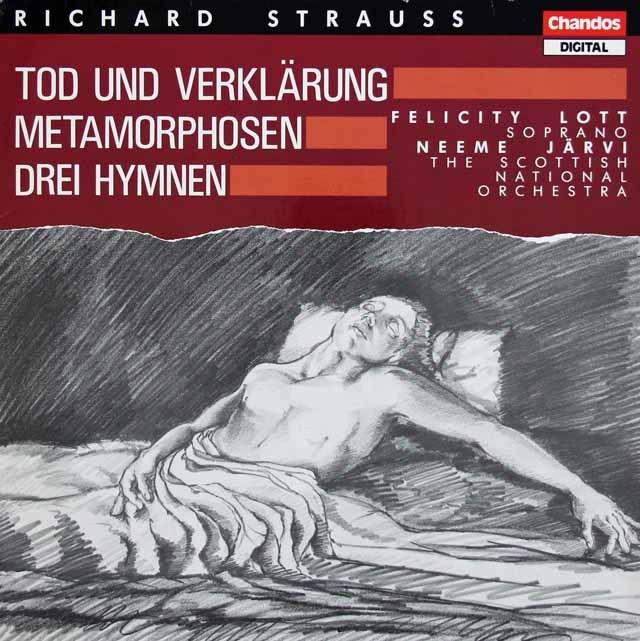 ヤルヴィのR.シュトラウス/交響詩「死と変容」、「メタモルフォーゼン」ほか 英Chandos 3391 LP レコード