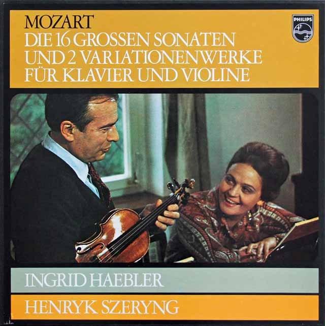 ヘブラー&シェリングのモーツァルト/ヴァイオリンとピアノのためのソナタ集 蘭PHILIPS 3015 LP レコード