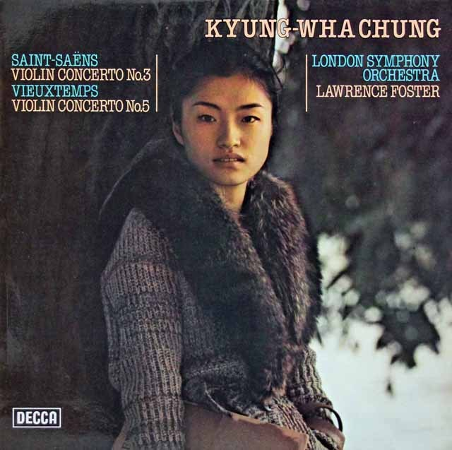 チョンのサン=サーンス&ヴュータン/ヴァイオリン協奏曲集 独DECCA 3016 LP レコード