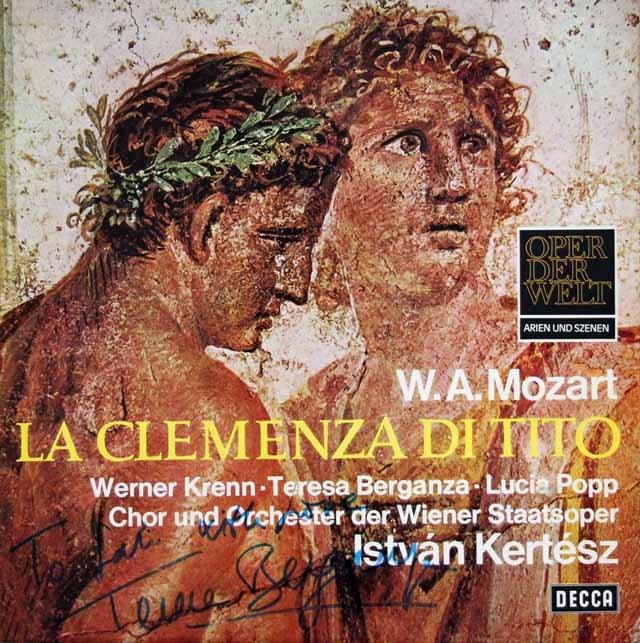 【ベルガンザのサイン入り】ケルテスのモーツァルト/「皇帝ティトの慈悲」抜粋 独DECCA 3016 LP レコード