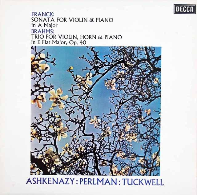 パールマン&アシュケナージのフランク/ヴァイオリンソナタほか 英DECCA 3016 LP レコード