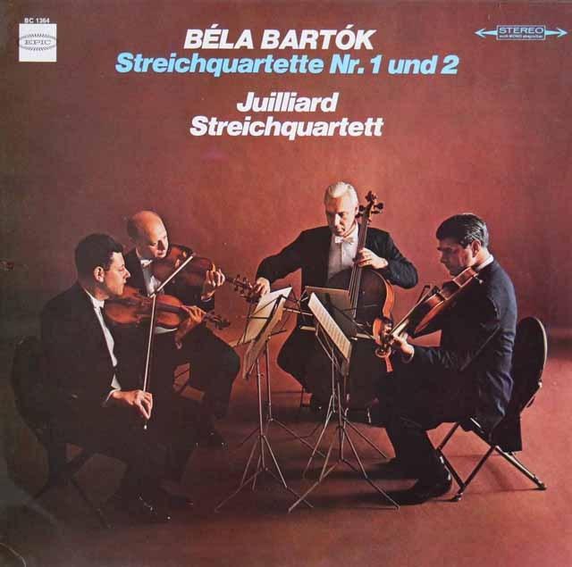 ジュリアード四重奏団のバルトーク/弦楽四重奏曲第1&2番 独EPIC 3016 LP レコード