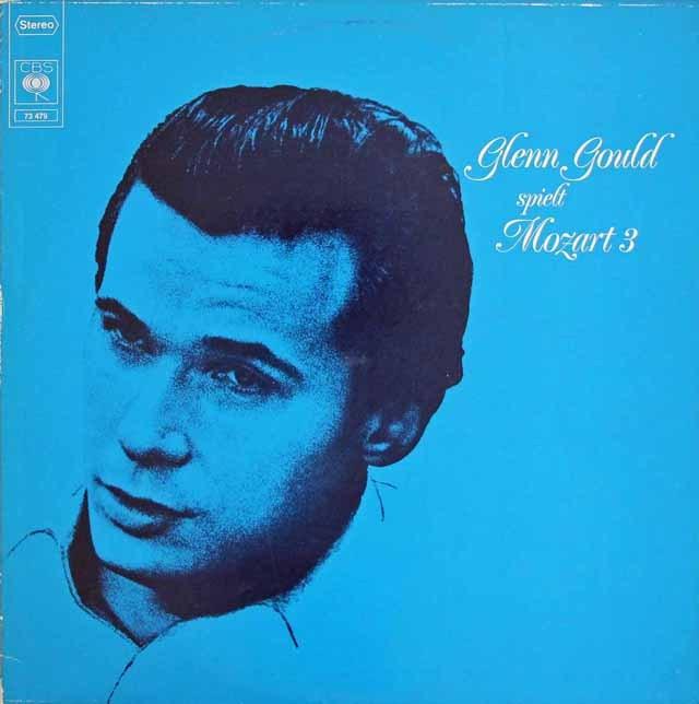 グールドのモーツァルト/ピアノソナタ第14、17&18番ほか 独CBS 3016 LP レコード