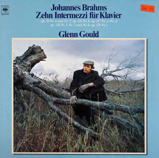 グールドのブラームス/間奏曲集 蘭CBS 3016 LP レコード