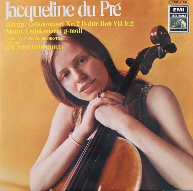 デュ・プレ&バルビローリのハイドン/チェロ協奏曲第2番ほか  独EMI 3016 LP レコード