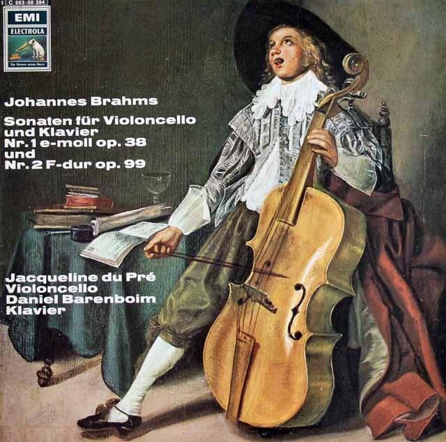 デュ・プレ&バレンボイムのブラームス/チェロソナタ第1&2番  独EMI 3016 LP レコード