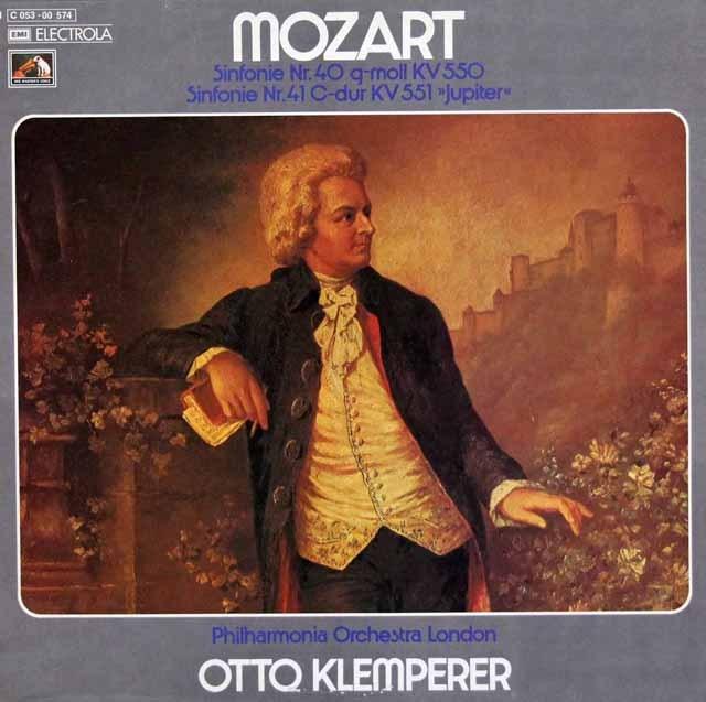 クレンペラーのモーツァルト/交響曲第40、41番「ジュピター」  独EMI 3391 LP レコード
