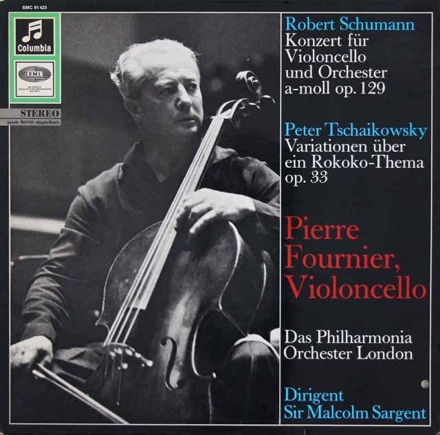 フルニエ&サージェントのシューマン/チェロ協奏曲ほか 独Columbia 3016 LP レコード