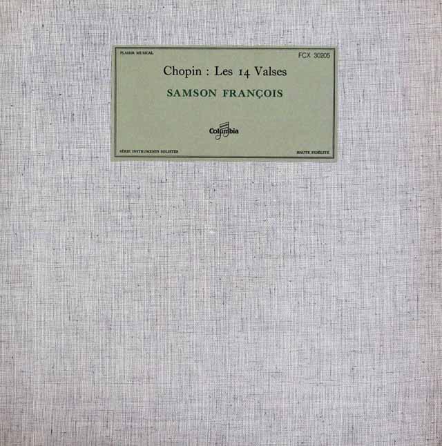 フランソワのショパン/ワルツ集 仏Columbia 3016 LP レコード