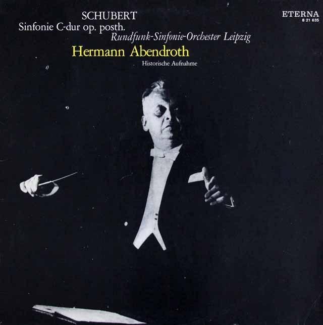 アーベントロートのシューベルト/交響曲第9番「グレート」  独ETERNA 3391 LP レコード