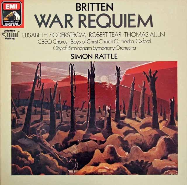 ラトルのブリテン/「戦争レクイエム」  独EMI 3016 LP レコード