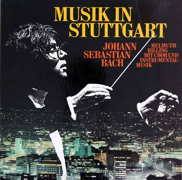 リリングのバッハ/シュトゥットガルトの音楽 独hanssler 3391 LP レコード