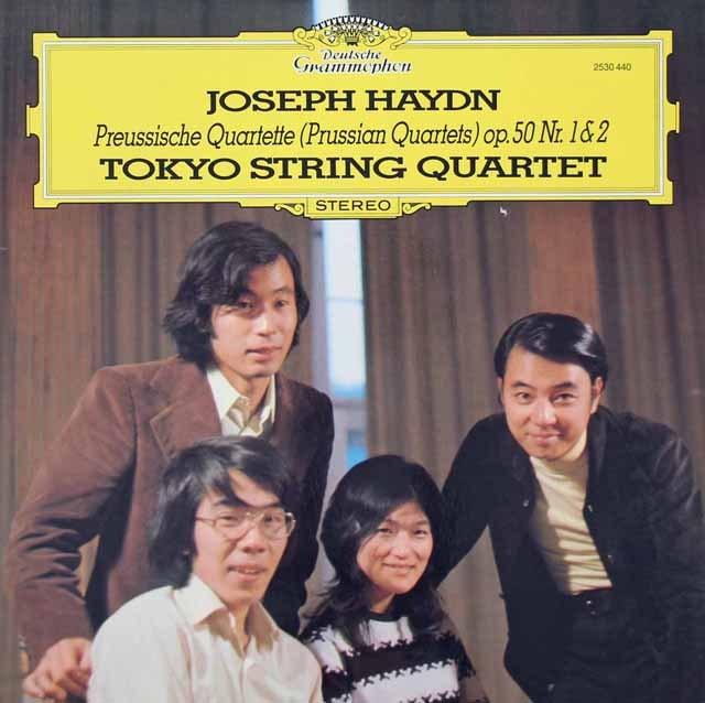 東京クヮルテットのハイドン/弦楽四重奏曲第44&45番  独DGG 3018 LP レコード
