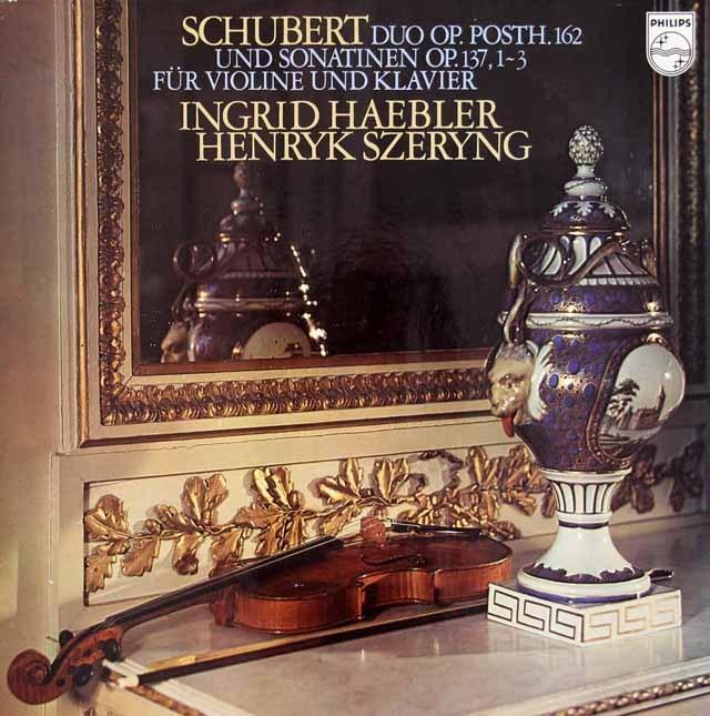 ヘブラー&シェリングのシューベルト/ヴァイオリンソナタ集  蘭PHILIPS 3018 LP レコード