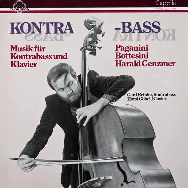 【サイン入り】ラインケのパガニーニ&ボッテジーニら/コントラバスとピアノのための作品集  独THOROFON 3018 LP レコード