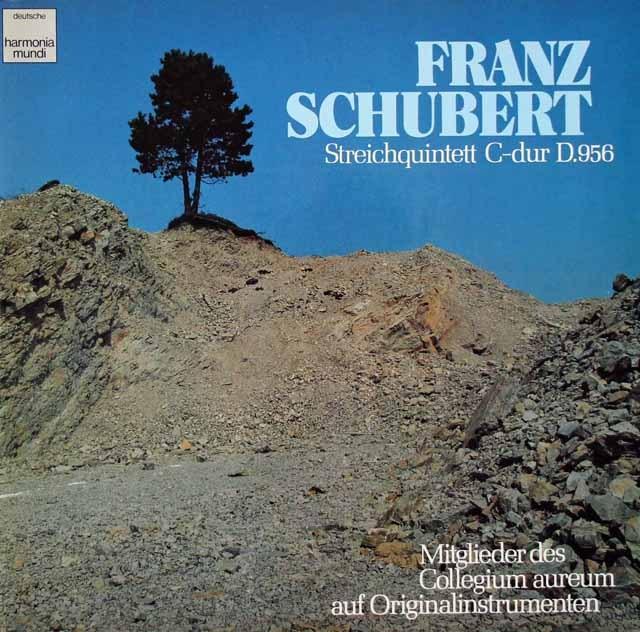 コレギウム・アウレウムのメンバーによるシューベルト/弦楽五重奏曲(オリジナル楽器)  独HM 3018 LP レコード