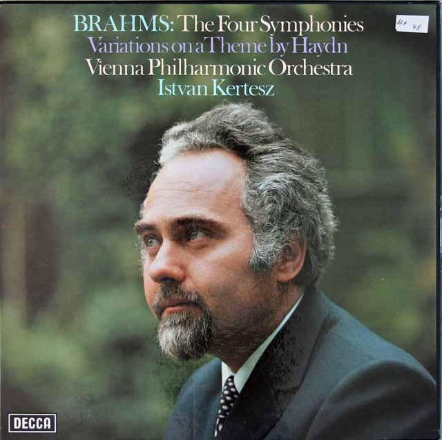 ケルテスのブラームス/交響曲全集  英DECCA 3018 LP レコード