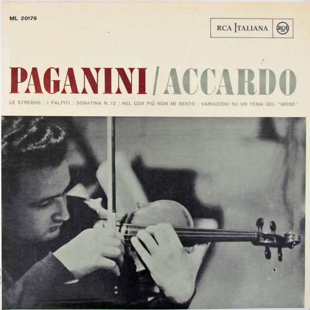 アッカルドのパガニーニ/ヴァイオリン曲集  伊RCA 3018 LP レコード