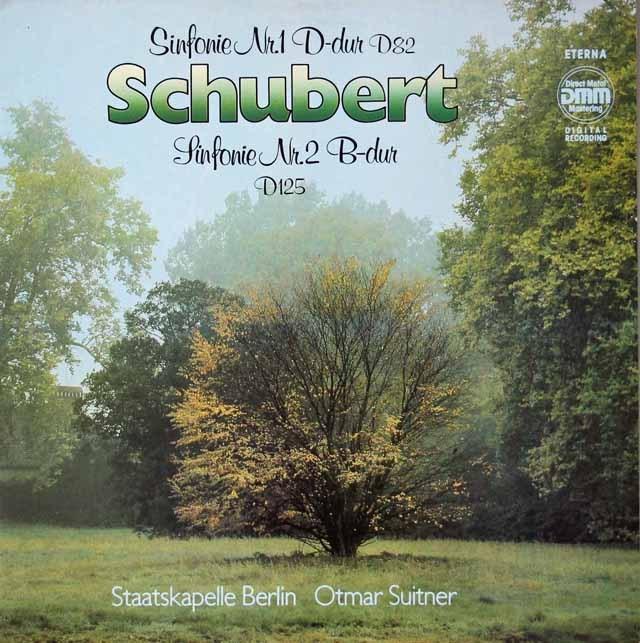 スウィトナーのシューベルト/交響曲第1&2番  独ETERNA 3020 LP レコード
