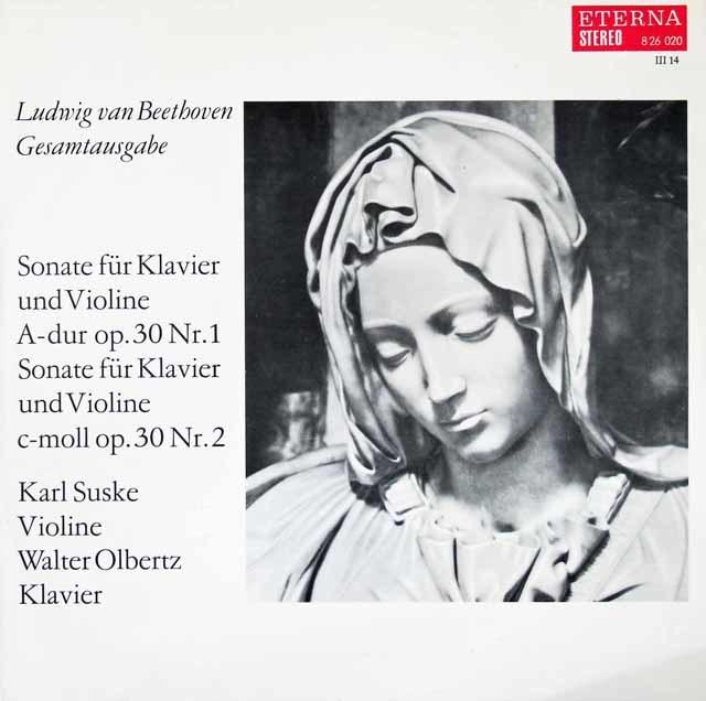 ズスケ&オルベルツのベートーヴェン/ヴァイオリンソナタ第6&7番  独ETERNA 3020 LP レコード