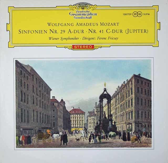 【赤ステレオ】フリッチャイのモーツァルト/交響曲第29&41番「ジュピター」  独DGG 3020 LP レコード