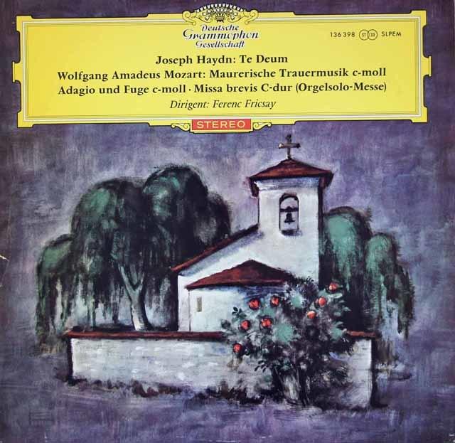 【赤ステレオ】フリッチャイのハイドン/テ・デウムほか   独DGG 3020 LP レコード