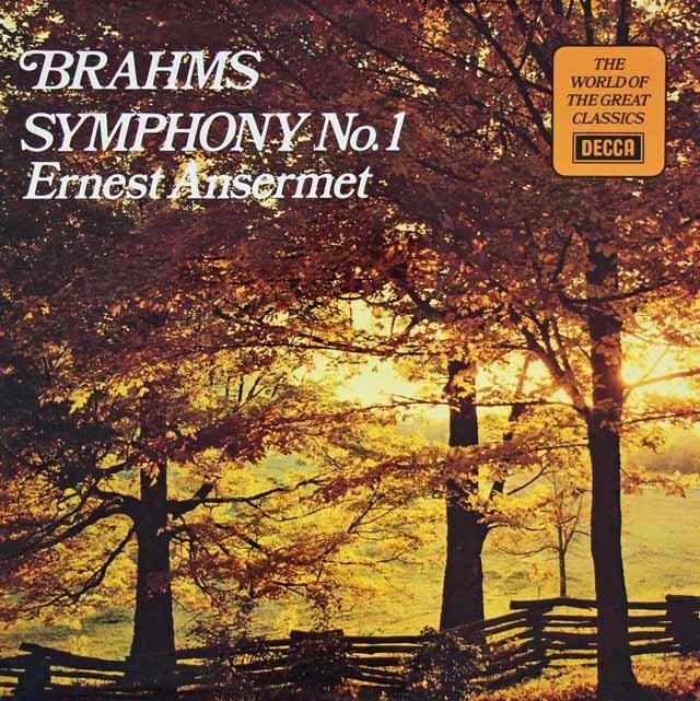 アンセルメのブラームス/交響曲第1番   英DECCA 3020 LP レコード