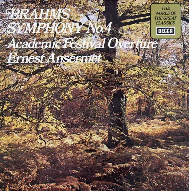 アンセルメのブラームス/交響曲第4番ほか   英DECCA 3020 LP レコード