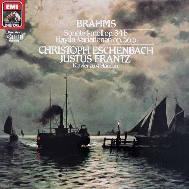 エッシェンバッハ&フランツのブラームス/2台のピアノのためのソナタ  独EMI 3020 LP レコード