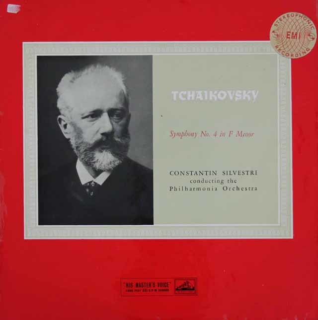 【オリジナル盤】シルヴェストリのチャイコフスキー/交響曲第4番  英EMI 3020 LP レコード