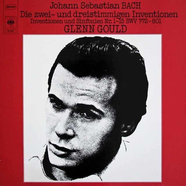 グールドのバッハ/インヴェンションとシンフォニア  蘭CBS 3020 LP レコード