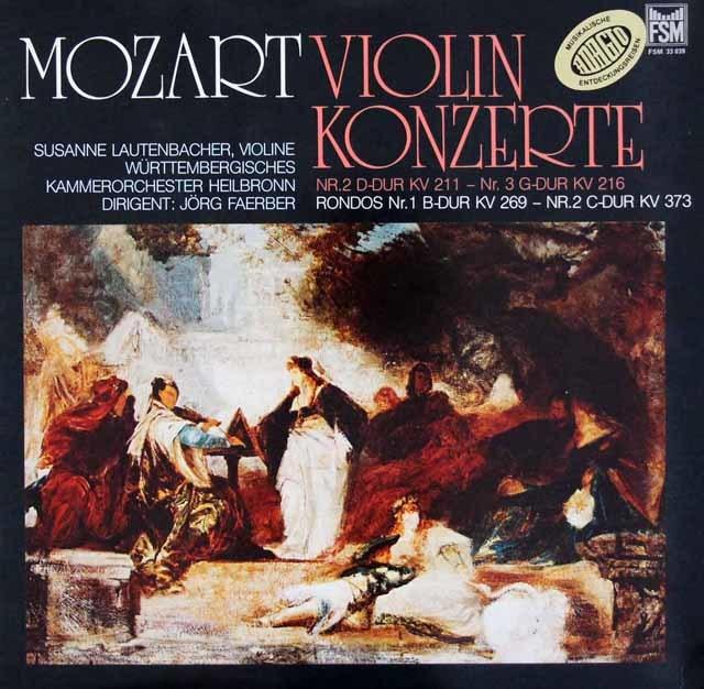 ラウテンバッハー&フェルバーらのモーツァルト/ヴァイオリン協奏曲第2&3番   独FSM 3020 LP レコード