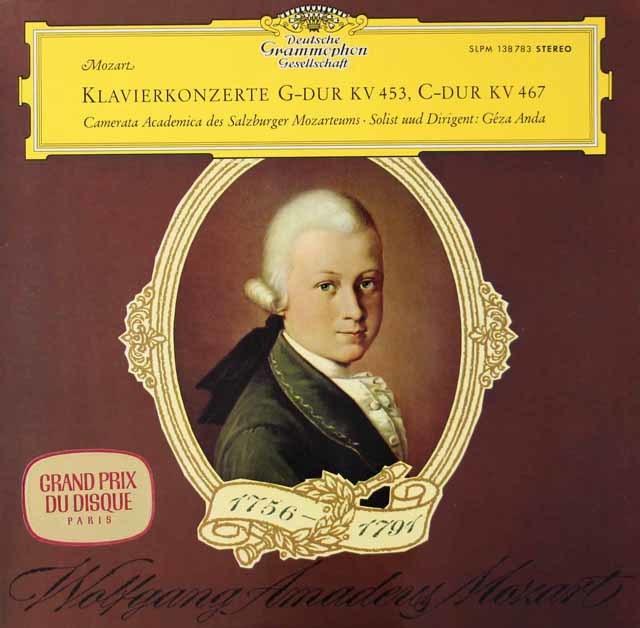 【独最初期盤】 アンダのモーツァルト/ピアノ協奏曲第17&21番    独DGG 3021 LP レコード