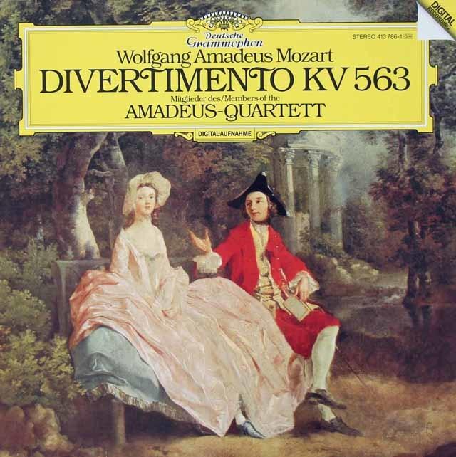 アマデウス四重奏団のモーツァルト/弦楽三重奏のためのディヴェルティメント    独DGG 3021 LP レコード