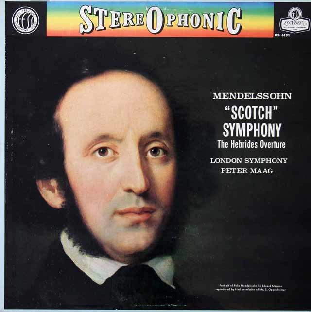 マークのメンデルスゾーン/交響曲第3番「スコットランド」ほか    英DECCA 3021 LP レコード