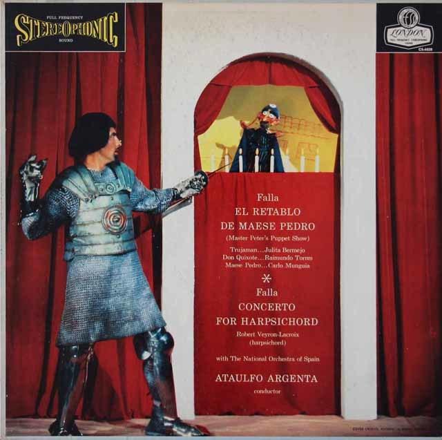 アルヘンタのファリャ/「ペドロ親方の人形芝居」 ほか   英DECCA 3021 LP レコード