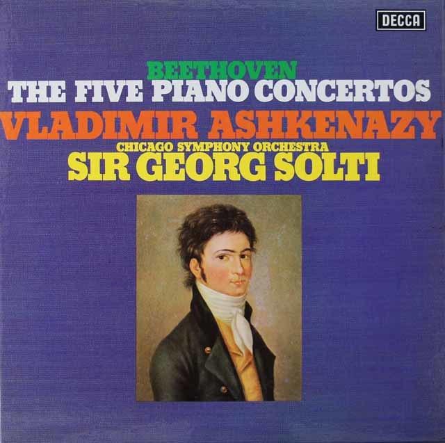 アシュケナージ&ショルティのベートーヴェン/ピアノ協奏曲全集   英DECCA 3021 LP レコード