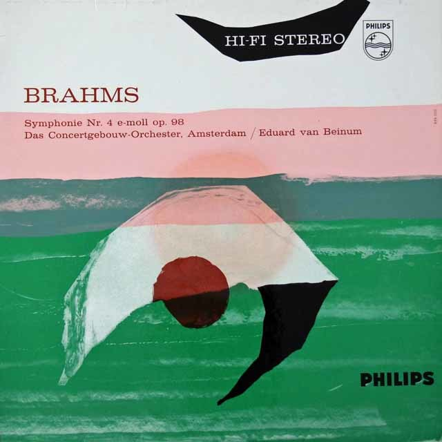 ベイヌムのブラームス/交響曲第4番    英PHILIPS 3021 LP レコード