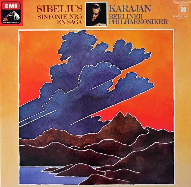 カラヤンのシベリウス/交響曲第5番&「エン・サガ」    独EMI 3021 LP レコード