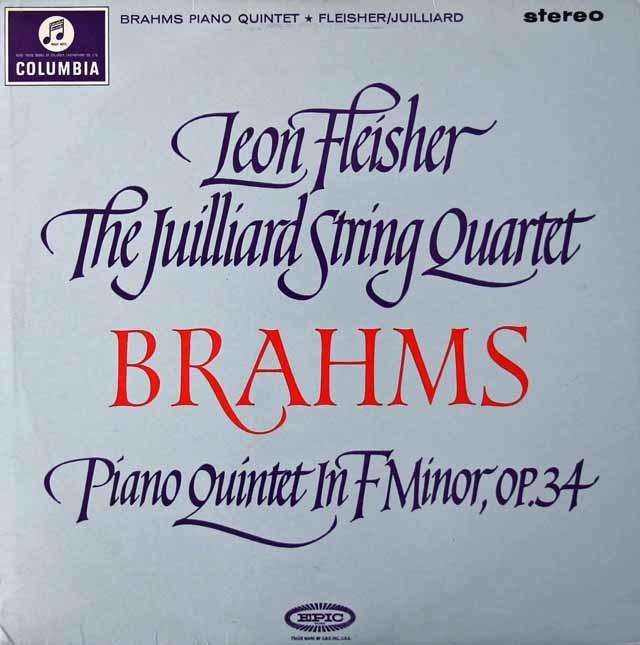 【オリジナル盤】フライシャー&ジュリアード弦楽四重奏団のブラームス/ピアノ五重奏曲   英Columbia 3021 LP レコード