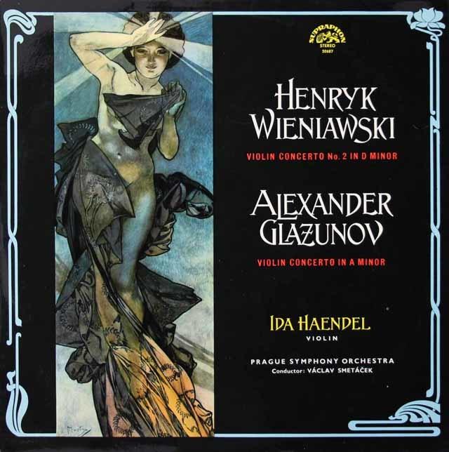 イダ・ヘンデルのヴィエニャフスキ&グラズノフ/ヴァイオリン協奏曲集   チェコSUPRAPHON 3021 LP レコード