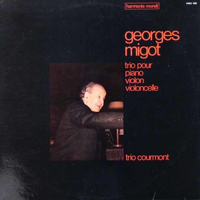 トリオ・クールモンのミゴー/三重奏曲  仏HM 3021 LP レコード