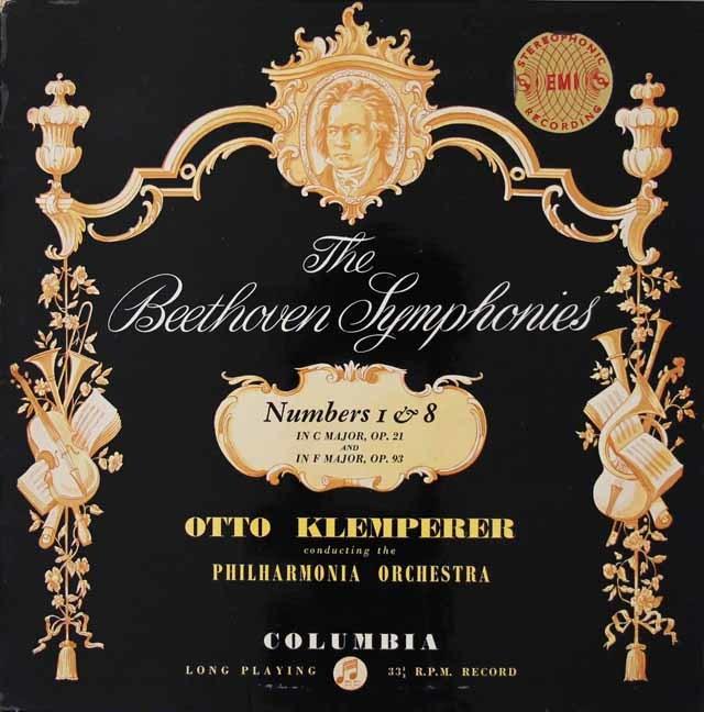 【オリジナル盤】クレンペラーのベートーヴェン/交響曲第1&8番  英Columbia 3022 LP レコード