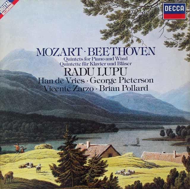ルプーらのモーツァルト&ベートーヴェン/ピアノと管楽のための五重奏曲  蘭DECCA 3022 LP レコード