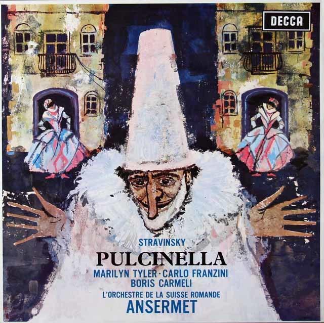 アンセルメのストラヴィンスキー/「プルチネルラ」  独DECCA 3022 LP レコード