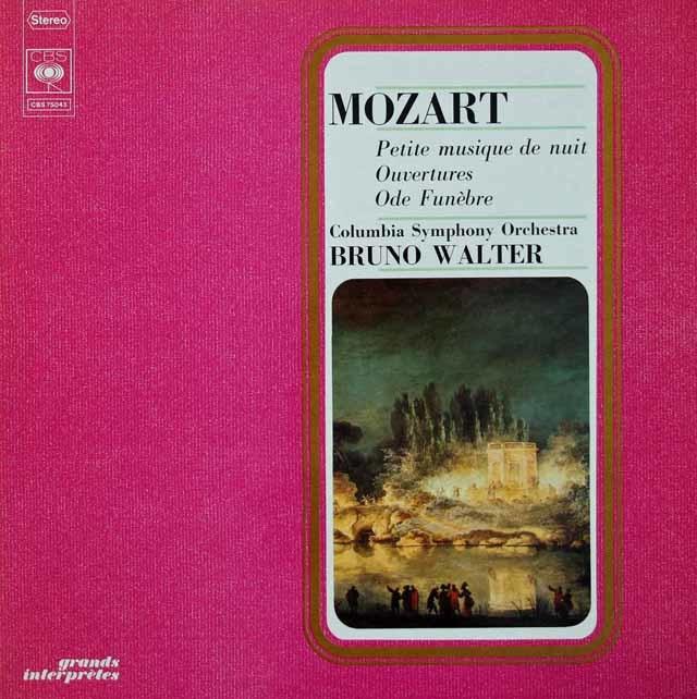 ワルターのモーツァルト/「アイネ・クライネ・ナハトムジーク」ほか 仏CBS 3022 LP レコード